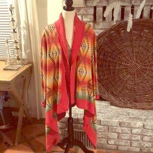 Polo by Ralph Lauren Sweaters - Aztec Polo Wrap Kimono Sweater